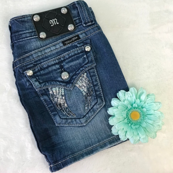 Miss Me Dresses & Skirts - Miss Me Flap Pocket Denim Skirt